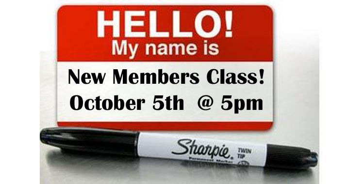 New Member Class oct